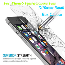 Wholesale Glasses Crystals - Tempered Glass Screen Protector 2.5D 9H 0.26mm Paper Gift Wooden Crystal Book Kraft Different Retail Box For iPhone6 6s Plus