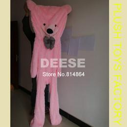 Wholesale Empty Teddy Bears - Wholesale-Super discount Four Colors 200cm Giant Teddy bear Cover empty Plush toys for wholesale