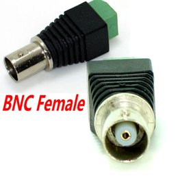 Wholesale Cat5 Cat6 Cable - Freeshipping 100pcs Lot Coax CAT5 Cat6 to CCTV Camera BNC Female Connector, BNC Connector Plug for CCTV Cable Ann
