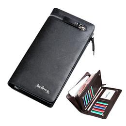 Кошелек стиль сотовый телефон владельца онлайн-Baellerry новый длинный стиль мужской кожаный бумажник с сумка для монет бизнес кошелек сотовый телефон карманные держатели карт 3 цвета