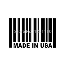 Wholesale Usa Mirror - Wholesale 20pcs lot Vinyl Decals Car Stickers Glass Stickers Scratches Stickers Wall Bumper Accessories Jdm Made In USA Barcode
