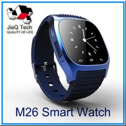 Canada M26 montre intelligente 1,4 pouce 230mAh batterie IP57 étanche G-capteur podomètre anti-perdu Bluetooth 3.0 multi-langue soutien IOS Système Android Offre