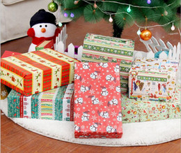 Wholesale Bags For Recycling - DHL & SF_ EXPRESS christmas Packing Paper Gift packing Bags Christmas Wrapping Paper WALL Decor 70cm*50cm FOR gift box packing