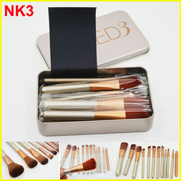 Wholesale Cosmetic Tool Professional - NK3 Professional 12pcs Makeup brush Cosmetic Facial Make-up Brush Tools face and eyes Makeup Brushes Set Kit With Retail Box