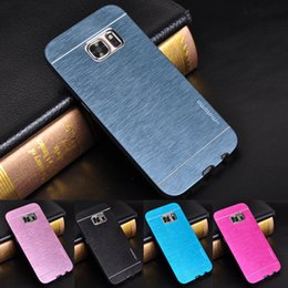 Wholesale Galaxy S4 Case Protective - For Samsung Galaxy S7 S6 edge Motomo Aluminum Metal Case Hard Cover Protective Phone Cases For Fundas Samsung Note 5 4 S4 S5