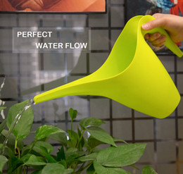 Wholesale Watering Pot Can Wholesale - 10PCS LOT 1800ML 2016 New SimpleStyle watering cans pot for Succulent plants bonsai flower gardening tools garden sprinklers Long Shower