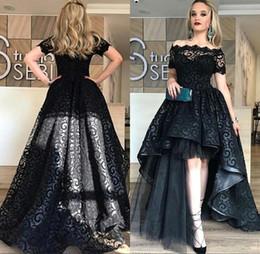 fcbd69cb530a vestiti eleganti di promenade neri eleganti Sconti 2018 Elegante sexy nero  alto basso lungo abiti da