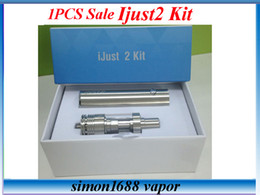 Wholesale Ego 1pcs - 1pcs Sale ! iJust2 kit 2600mah Battery with ijust 2 tank sub ohm tank VS SUBVOD Sarter Kit ego aio kit