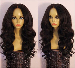 Wholesale Dark Brown Curly Fashion Wig - Fashion full lace human hair wigs wavy 7A grade brazilian virgin human hair front lace wigs 130%density DHL free shipping