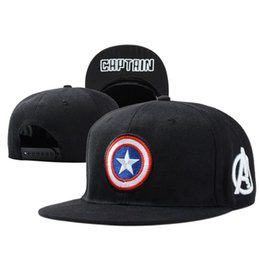 Wholesale Captain Baseball Cap - free shippment 2016 New Fashion Bone Cotton Unisex Hat Popular Models Captain America Baseball Cap Flat Hip-Hop Casual Snapback Caps