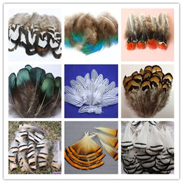 Wholesale Peacock Feathers Accessories - Wholesale 100PCS beautiful pheasant tail & peacock feathers 4-10cm 2-4inches party decorative feather Clothing accessories
