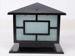 Canada Bronze antique laiton paysage japanes noir classique extérieur porte extérieure imperméable à l'eau sur la borne supérieure de poteau de lumière Offre