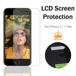 Wholesale Cloth Package - Screen Protector for iphone 5 5G iphone 7 7plus 6 6s Professional Screen Guard High Quality Clear Screen with Cloth without retail package