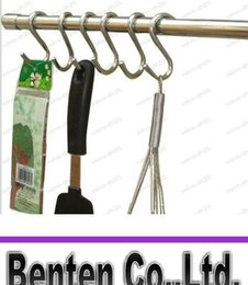 Wholesale Pot Hangers - 6.25 cm S Kitchen Pot Pan Hanging Hanger Rack Home Clothes Holder Stainless High Quality Hooks LLFA
