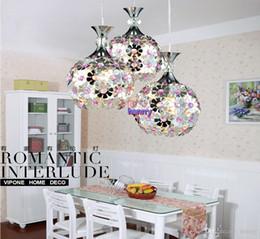 Wholesale Purple Halogen Lights - American country pastoral Mediterranean flowers retro lamp chandelier. Three restaurants aluminum chandelier. Meal lights, bedroom lights