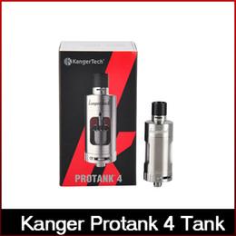 Tanque rba velocidad online-Alta calidad Kanger Protank 4 Atomizador Kangertech Protank 4 Tanque 5 ml Velocidad de llenado lateral superior Estilo RBA Deck con bobina doble Clapton