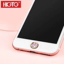 Wholesale Home Button Sticker Iphone Cute - Wholesale-Round Mobile Phone Home Button cute Sticker for iPhone SE 5S 6 6s fingerprint identification Key paster for iPad Touch 100pcs