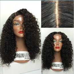 Wholesale European Remy Wigs - New Arrival!Top Quality Human Wigs 6A Brazilian Virgin Hai100% indian remy curly full lace wigs human hair wigs with silk top No mix virgin