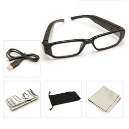 Wholesale Gadgets Video - 32GB 5pcs lot 720P Super Mini Eyeglasses Camera Mini Sunglasses Camera Eyewear Cameras Video Recoder Portable Mini Gadgets Micro Camcorder