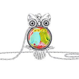 Wholesale Wholesale Vintage Charm Korea - hot sale Korea Adorn Article Vintage Antique Owl Pendants Necklaces Owl Sweater Chain Jewelry Free shipping