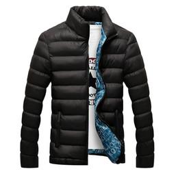 Wholesale Asia Fashion Clothing - Wholesale- Winter Jacket Men 2017 Men Cotton Blend Coats Zipper Mens Jacket Casual Thick Outwear For Men Asia Size 4XL Clothing Male MZ85