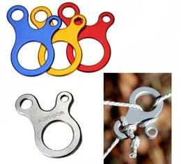 Wholesale Camping Tent Awning - E-35 EDC Tool Rope Stopper Tent Hooks Outdoor Camping Wind Rope Buckle For Awning Wigwam Aluminum Alloy Wear Resistant 3 Hole