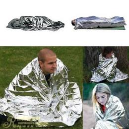 Wholesale Mylar Space Blanket Wholesale - Wholesale-Emergency Survival Gear Rescue Space Silver Mylar Thermal Blankets Warm Wrap
