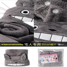 Wholesale Totoro Fleece Blanket - cosplay 2017 New Cosplay Lovely Plush Soft Cloak Totoro Cape Cat Cartoon Cloak Coral Fleece Air Blankets Birthday Valentine Gifts