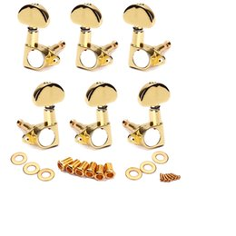 Wholesale Grover Tuning - 1set of 3L3R Grover Style Guitar Tuning pegs Tuners Machine Heads Gold High Quality Hot Sale Free Shipping