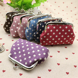 Wholesale Cheap Purses Handbags Sale - Wholesale-2016 Hot Sale Cheap Price Cute Women Ladies Small Mini Coin Purse Dots Print Hasp Wallet Card Holder Girls Handbag Bag