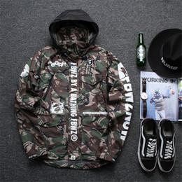 Wholesale Army Camo Uniforms - 2016 New Jacket Men Harajuku Windbreaker Shark Army Camouflage Jackets Softshell Camo Military Uniform Jacket