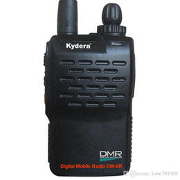 Wholesale Handheld Vhf Ham Radio - KYD DMR DM-6R Transceiver Dual Band Walkie Talkie VHF&UHF Small Ham radios Digital Handheld Two Way Radios CB radio Motorola DMR Licensees