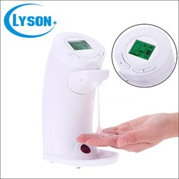 Wholesale Ir Sensor Mounting - Wholesale Hotel Hand Free ABS Plastic Wall-mounted LCD Auto soap dispenser with IR sensor touchless 250ml