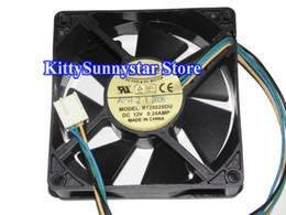 Wholesale Everflow Computer Fans - EVERFLOW 8CM 80*25mm R128025DU 12V 0.24A 4 Wires 4 Pins Case fan cpu power cooler