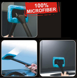 Wholesale Car Dust Brush - DHL fast Car Wash Brush Microfiber Auto Window Cleaner Long Handle Dust Car Care Windshield Shine Towel Handy Washable Car Cleaning Tool