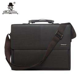 "Wholesale Office Works Computers - DIOULAORENTOU Brand 13"" Man Business Briefcase Bag High Quality Flap-over Pu Leather Men Briefcases Office Work Bags Handbags"