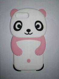 Wholesale Red Panda Iphone Case - Cartoon Silicone Case For Apple iPhone 7 7 Plus 6 6 Plus 5 5S 5C 4S 3D Cute Panda Soft Silicone Case For iPhone 7 7 Plus