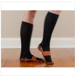 Wholesale Magic Knits - Wholesale-New Miracle Copper Anti-Fatigue Compression Socks Soothe Tired Achy Unisex Women Men Anti Fatigue Magic S M L XL 2Pairs lot