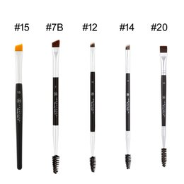 Wholesale Eyes Liners - ANASTASIAS DUO BRUSH #7 #12 #14 #20 #15 Double-ended Eye Brow Liner -Original Quality- Beauty Cosmetic makeup brushes Blender