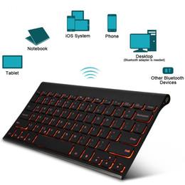 Wholesale Slim Mini Wireless Bluetooth Keyboard - B.O.W HB086B Bluetooth Wireless Keyboard Backlit Keyboard Rechargeable Keyboards For iPad Air 2  Pro 9.7 Mini slim Keyboard New