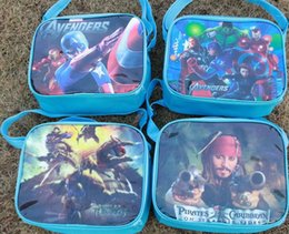 Wholesale Spiderman Party Bag Wholesalers - new design kid favorite cute spiderman The Avengers CARS bag lunch bag case box bag kid party gift