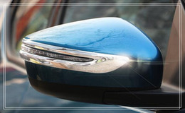 Wholesale nissan mirrors - High quality ABS 2pcs side door mirror decoration trim,scuff trim for Nissan Lannia bluebird 2016
