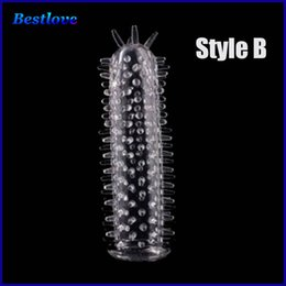 Wholesale Sex Vibrator Condom - Sleeve Men Delay Spray Cock Ring Adult Sex products Cock Sleeve Penis Extender Condoms