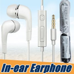 Wholesale Cheap Wholesale Phones - Headphones In-Ear Earphones For Samsung Earbuds s6 s7 s8 edge Stereo 3.5mm Cheap Headset With Microphone Remote For Mp3 Cell Phone
