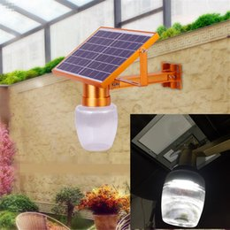 Wholesale Led Apple Lamp - Newest Golden Color Remote Control Time Setting 10W Solar Panel Powered LED Street Light Outdoor Garden Park Countyard Wall Lamp apple shade