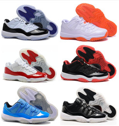 Wholesale red gum boots - Low Cut new 11 Basketball Shoes XI Low White Cherry Red Midnight navy white-gum Women Men High Quality Boots 11 US7-13