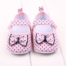 Wholesale Girls Canvas Shoes Floral - Fashion Baby Casual Shoes for Girls Princess Bow Spots First Walker Summer Shoes Classic Infant Toddler Non-Slip Shoes S1012