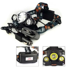 Wholesale Lumen Charger - HOT Boruit 5000 Lumen 3XCREE XM-L T6 LED Headlamp Headlight 18650 Head Torch Lamp+AC Charger+Car Charger for Outdoor Camping