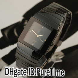 Wholesale swiss quartz mens watches - Super Clone R13856722 Black Ceramic Swiss Quartz Mens Womens Watch PureTime Special Offers Watches Sale Cheap Discounted 4 Colors Styles