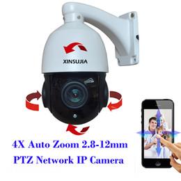 Wholesale Mini Ptz Dome Ip Camera - 2MP Full HD 1080P Mini Medium Moving Speed Dome IP PTZ Camera 4X Motorized Auto Zoom 2.8-12mm Varifocal lens Outdoor Onvif